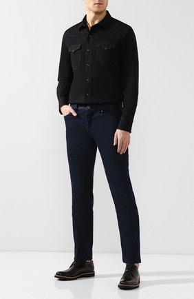 Мужская хлопковая рубашка RALPH LAUREN черного цвета, арт. 790729715 | Фото 2