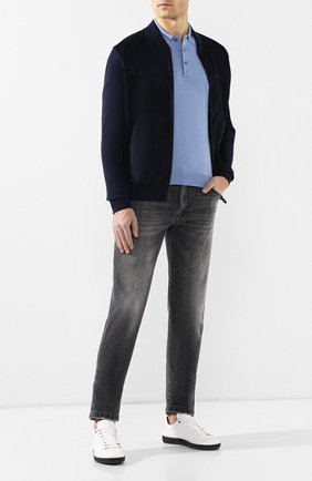 Мужские джинсы прямого кроя KITON серого цвета, арт. UPNJS/J07R54 | Фото 2