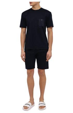 Мужские футболка из смеси хлопка и вискозы ZIMMERLI темно-синего цвета, арт. 8520-21091 | Фото 2