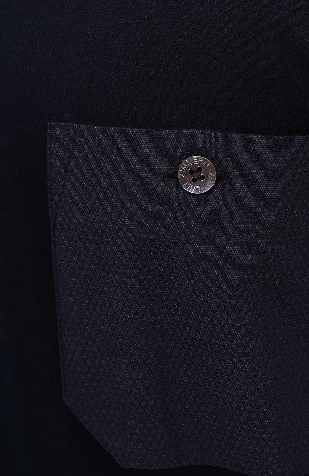 Мужская футболка из смеси хлопка и вискозы ZIMMERLI темно-синего цвета, арт. 8520-21091   Фото 5 (Кросс-КТ: домашняя одежда; Рукава: Короткие; Длина (для топов): Стандартные; Материал внешний: Хлопок, Вискоза; Мужское Кросс-КТ: Футболка-белье; Статус проверки: Проверена категория)