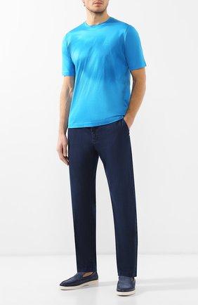 Мужские джинсы прямого кроя ZILLI темно-синего цвета, арт. MCR-00050-DEUL1/R001 | Фото 2