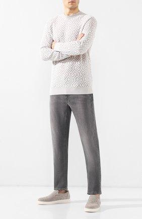 Мужские джинсы прямого кроя Z ZEGNA серого цвета, арт. VS721/ZZ505   Фото 2