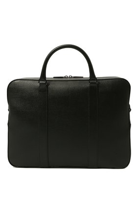 Мужская кожаная сумка для ноутбука с плечевым ремнем CANALI черного цвета, арт. P325157/NA00053 | Фото 5