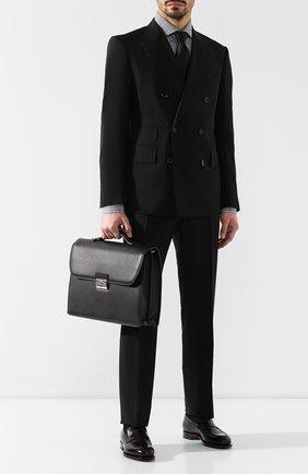 Мужской кожаный портфель CANALI черного цвета, арт. P325338/NA00051 | Фото 2