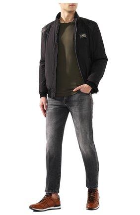 Мужская лонгслив из шелка и хлопка LORO PIANA хаки цвета, арт. FAF6129   Фото 2
