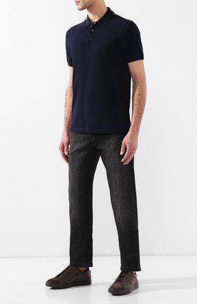 Мужские кожаные кеды triple stitch ZEGNA COUTURE коричневого цвета, арт. A2511X-MS0 | Фото 2