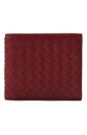 Мужской кожаное портмоне BOTTEGA VENETA бордового цвета, арт. 113993/V4651 | Фото 1