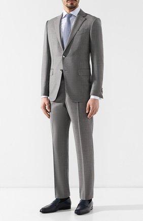 Мужские кожаные пенни-лоферы TOD'S синего цвета, арт. XXM51B00010D90 | Фото 2