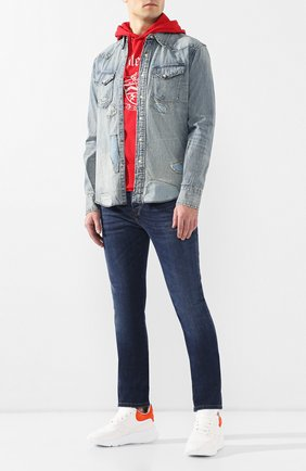 Мужская джинсовая рубашка RRL голубого цвета, арт. 782725899 | Фото 2