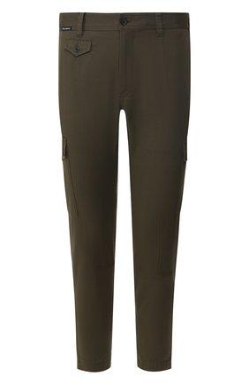 Мужской хлопковые брюки-карго DOLCE & GABBANA хаки цвета, арт. GYA8ET/FUFGD | Фото 1