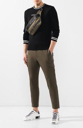 Мужской хлопковые брюки-карго DOLCE & GABBANA хаки цвета, арт. GYA8ET/FUFGD | Фото 2