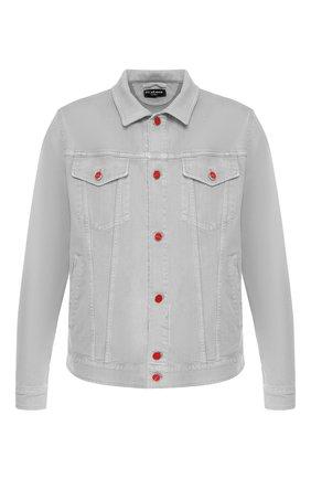 Мужская джинсовая куртка KITON серого цвета, арт. UW0506V08R83 | Фото 1