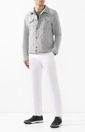 Мужская джинсовая куртка KITON серого цвета, арт. UW0506V08R83 | Фото 2