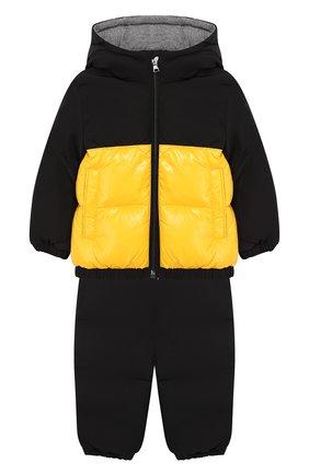 Комплект из пухового комбинезона и куртки | Фото №1