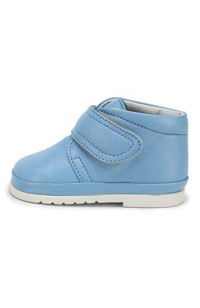 Детские кожаные ботинки с застежкой велькро GALLUCCI голубого цвета, арт. T00767AS/PP C G0M NAP/NAP | Фото 2