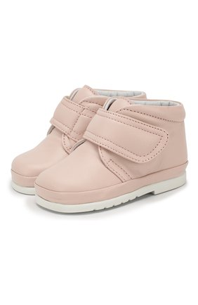 Кожаные ботинки с застежкой велькро | Фото №1