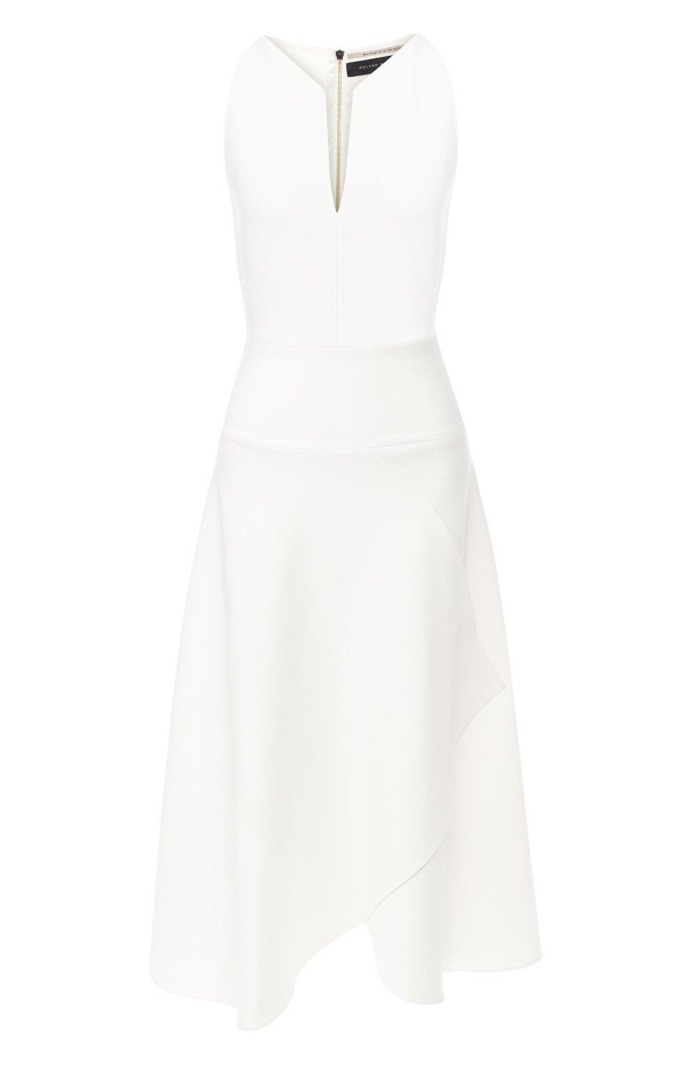 Платье-миди с оборкой   Фото №1