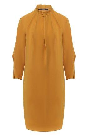 Платье с воротником-стойкой | Фото №1