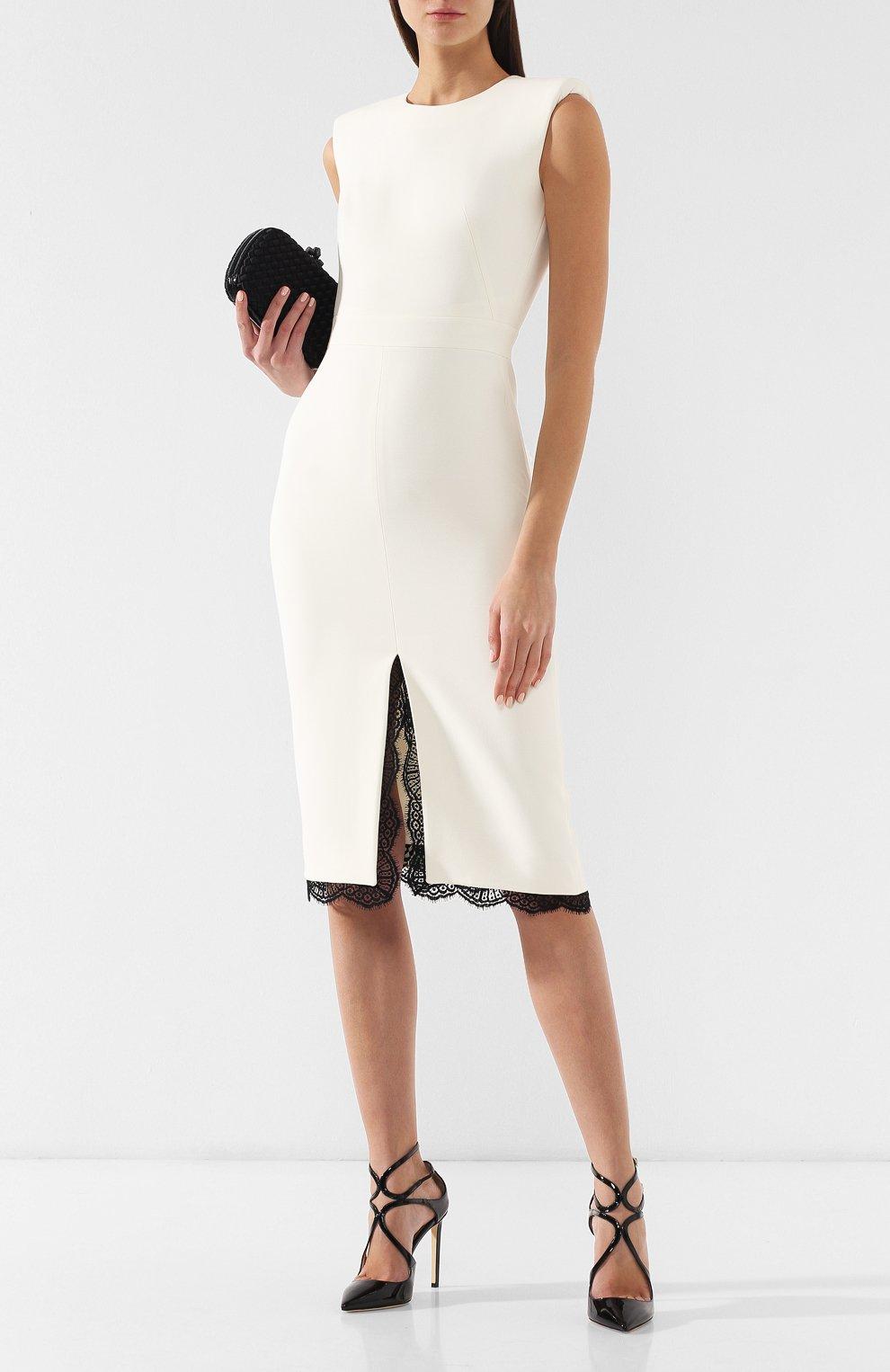 Платье из смеси шерсти и шелка   Фото №2