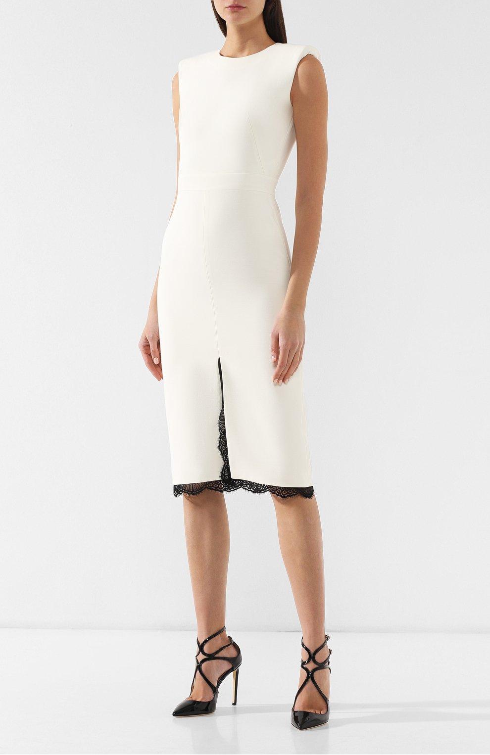 Платье из смеси шерсти и шелка   Фото №3