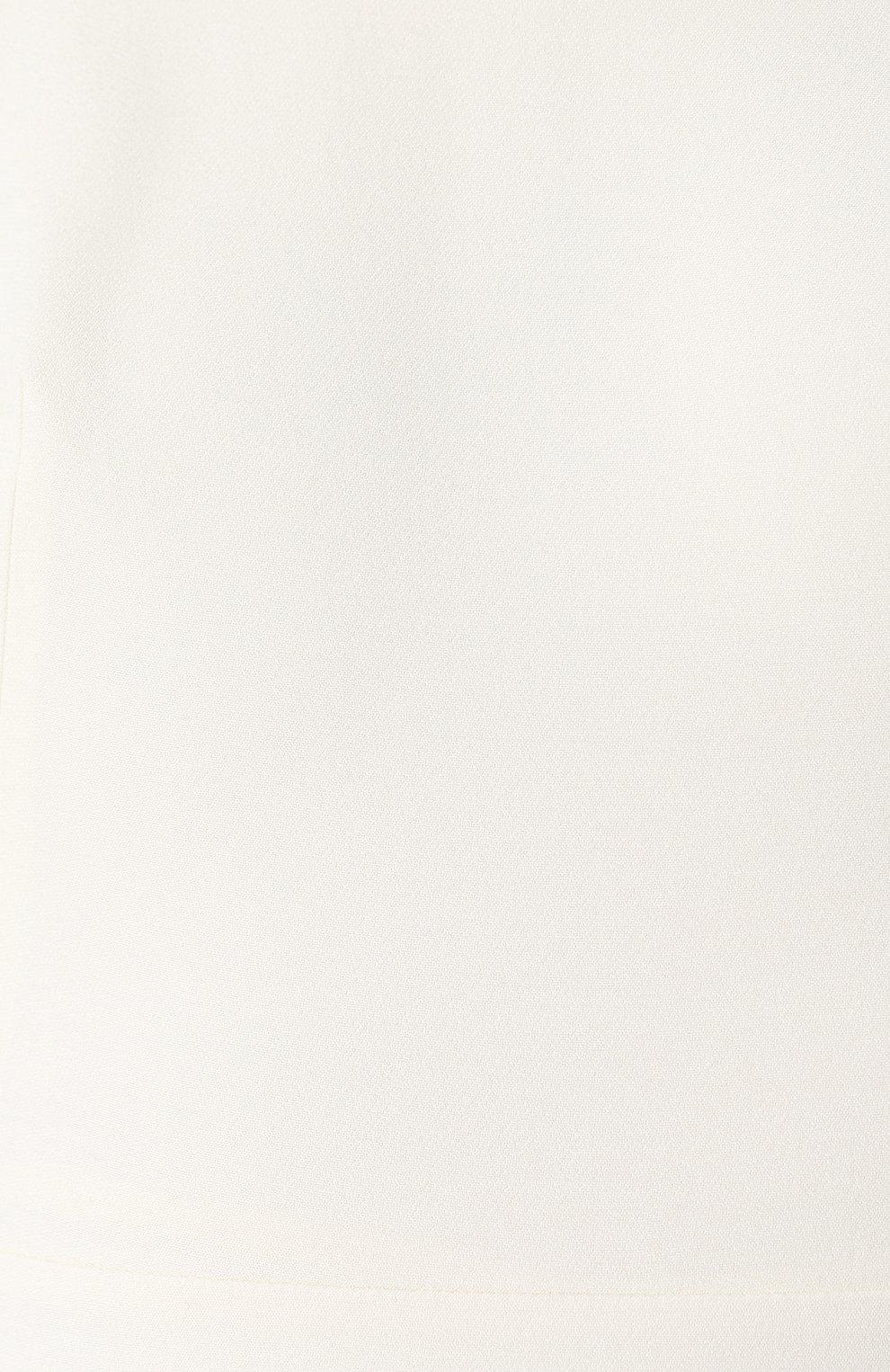 Платье из смеси шерсти и шелка   Фото №5