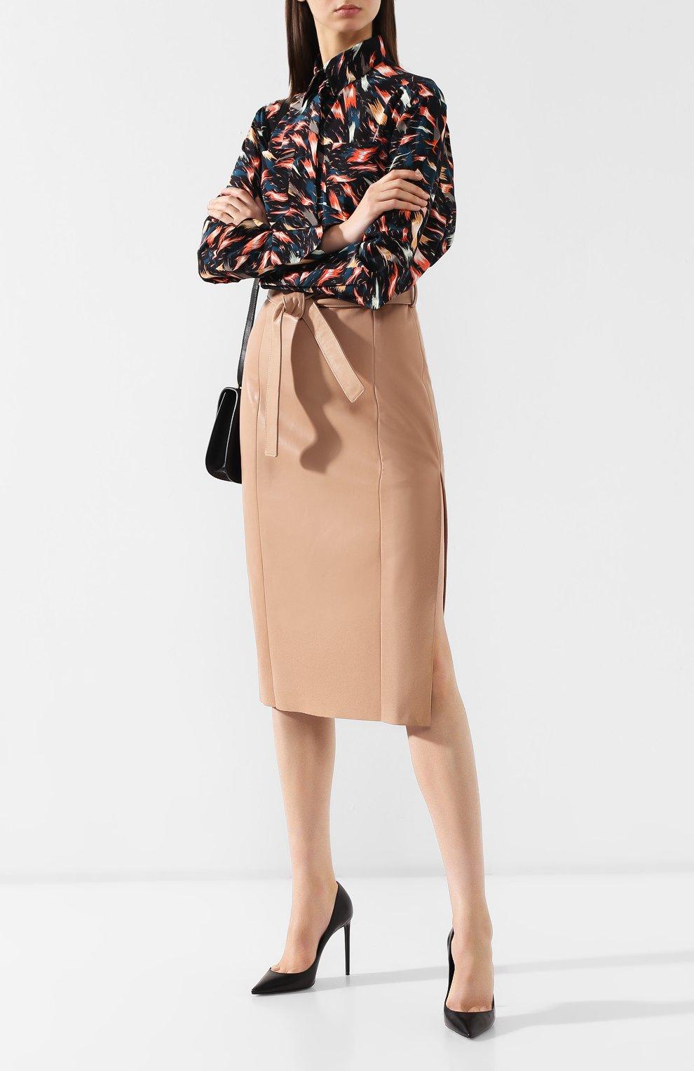d5284d6ce08 Женская бежевая кожаная юбка DROME — купить за 55000 руб. в интернет ...