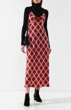 Шелковое платье Marc Jacobs красное | Фото №2