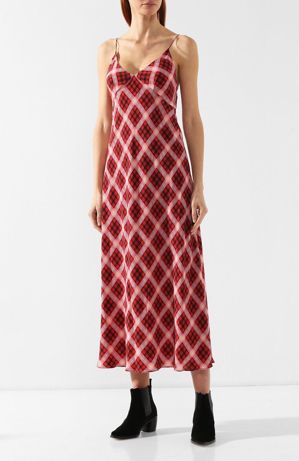 Шелковое платье Marc Jacobs красное | Фото №3