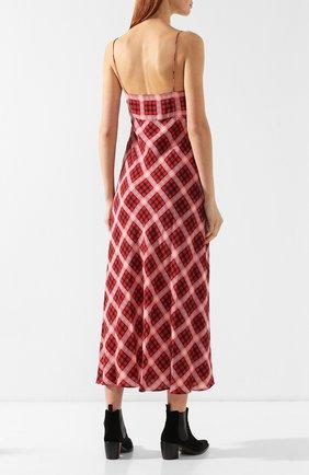 Шелковое платье Marc Jacobs красное | Фото №4