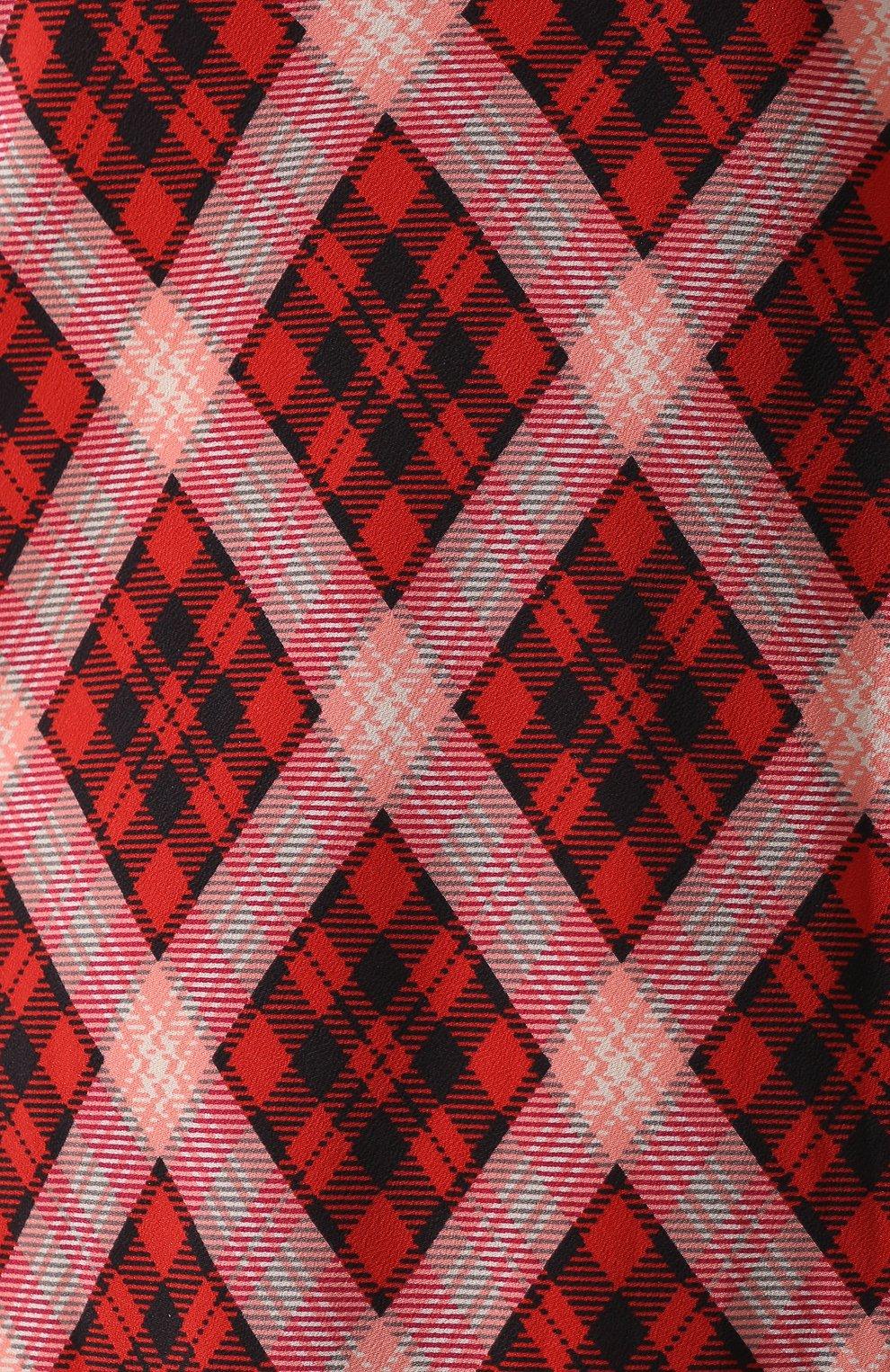 Шелковое платье Marc Jacobs красное | Фото №5