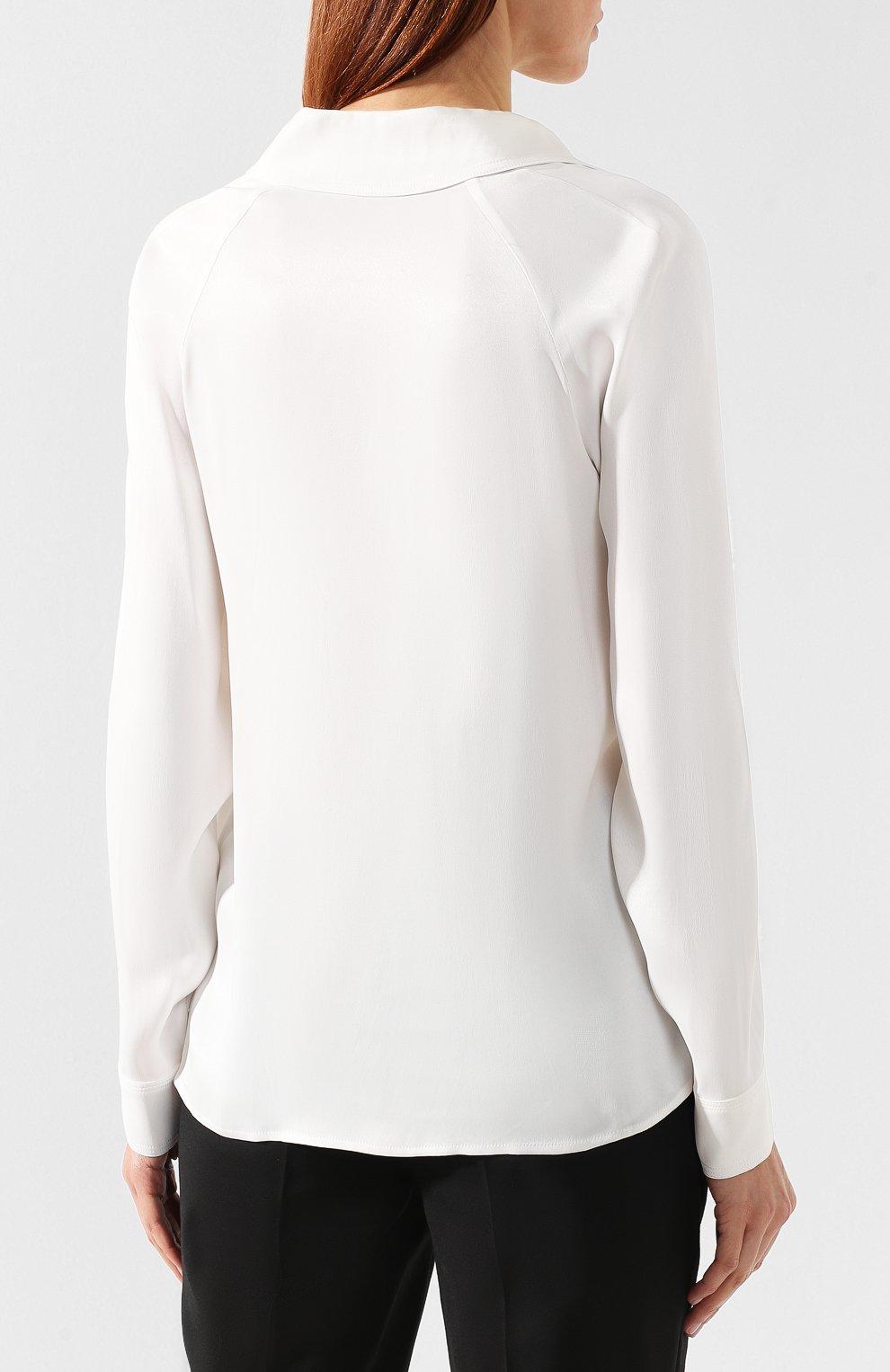 Блузка из вискозы By Malene Birger кремовая | Фото №4