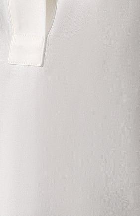 Блузка из вискозы By Malene Birger кремовая | Фото №5
