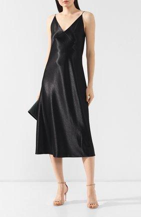 Платье на бретельках Vince черное | Фото №2