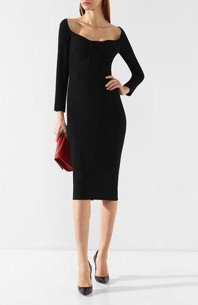 Женское приталенное платье-миди ROLAND MOURET черного цвета, арт. PS19/S0510/F2196 | Фото 2
