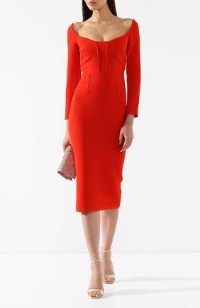 Женское приталенное платье-миди ROLAND MOURET красного цвета, арт. PS19/S0510/F2196 | Фото 2