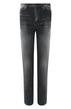Женские джинсы с потертостями SAINT LAURENT серого цвета, арт. 542763/YA857 | Фото 1