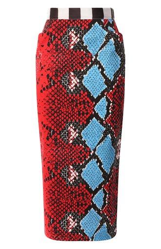 Хлопковая юбка с принтом