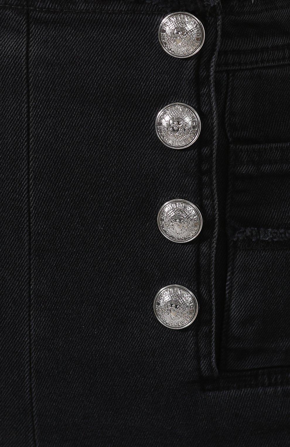 Женские джинсы-скинни BALMAIN черного цвета, арт. RF15307/D027 | Фото 5