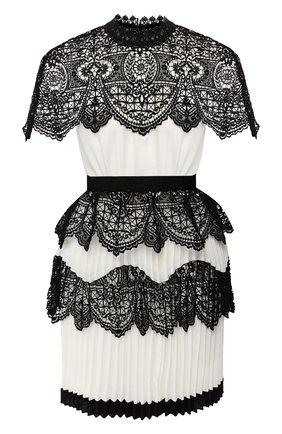 Платье с кружевной отделкой | Фото №1