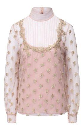 Блузка с воротником-стойкой | Фото №1