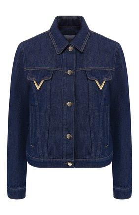 Джинсовая куртка Valentino темно-синяя | Фото №1