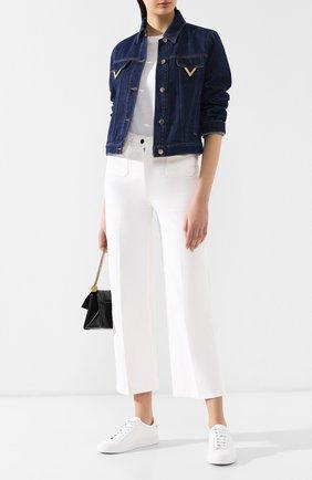 Джинсовая куртка Valentino темно-синяя | Фото №2