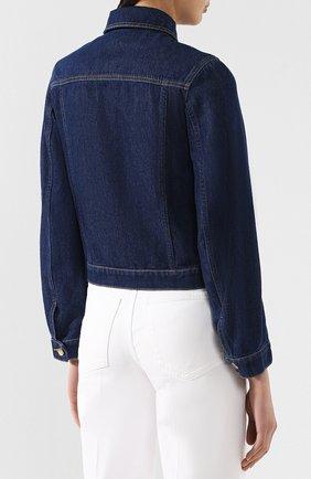 Джинсовая куртка Valentino темно-синяя | Фото №4