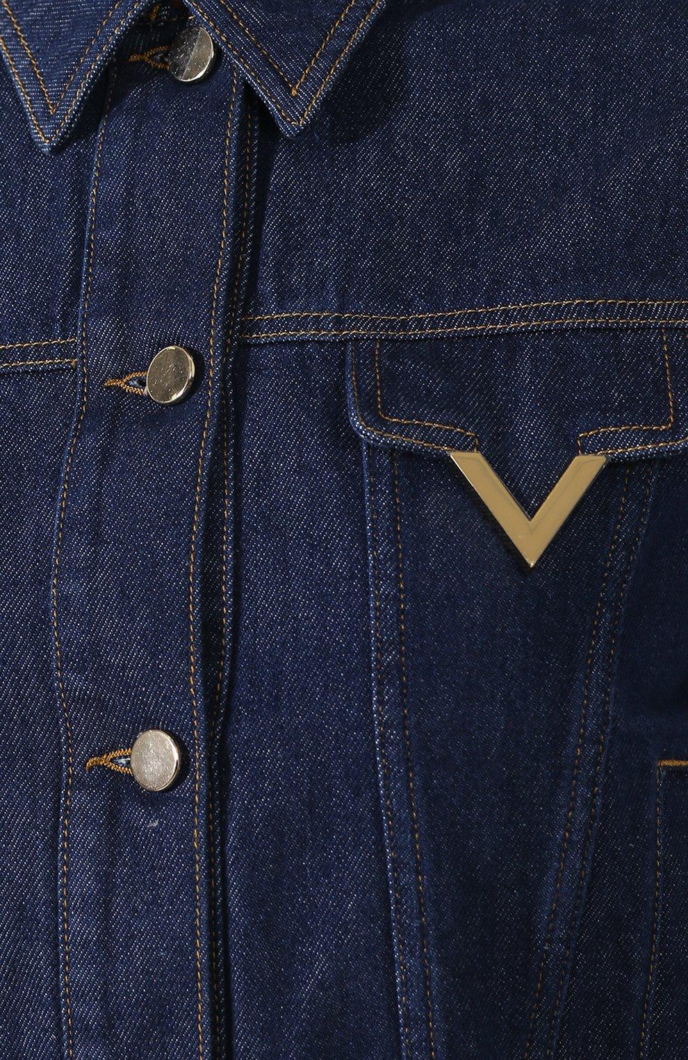 Джинсовая куртка Valentino темно-синяя | Фото №5