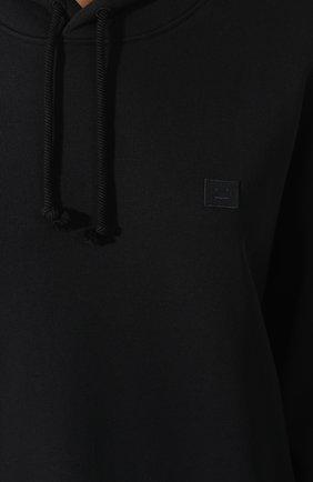 Женский хлопковое худи ACNE STUDIOS черного цвета, арт. CI0009/W | Фото 5