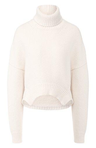 Пуловер из смеси хлопка и шерсти