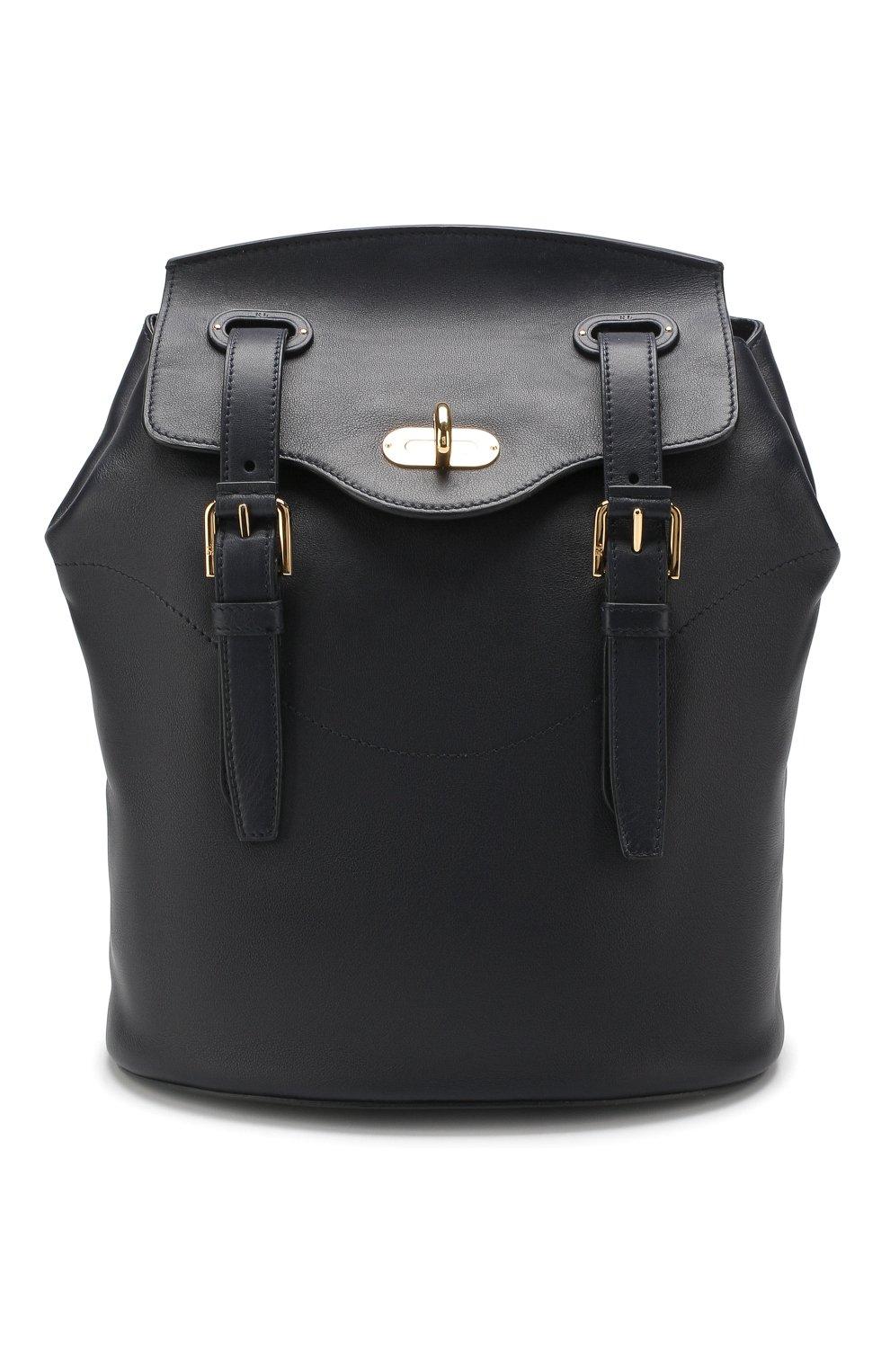 Рюкзак из кожи Ralph Lauren темно-синий | Фото №1