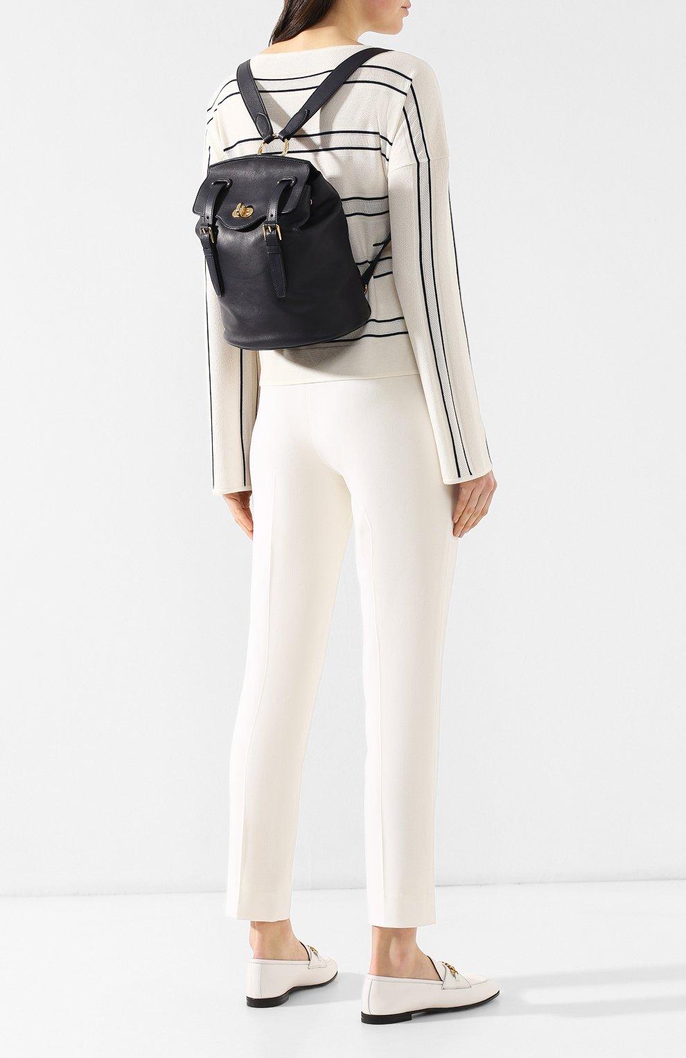 Рюкзак из кожи Ralph Lauren темно-синий | Фото №2