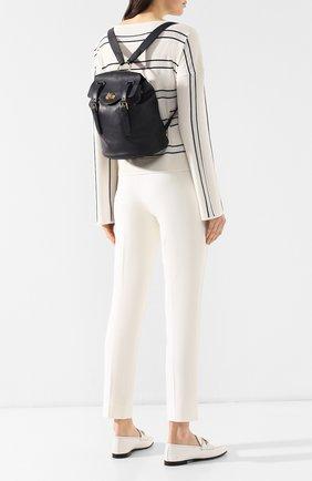 Женский рюкзак из кожи RALPH LAUREN темно-синего цвета, арт. 435740992 | Фото 2