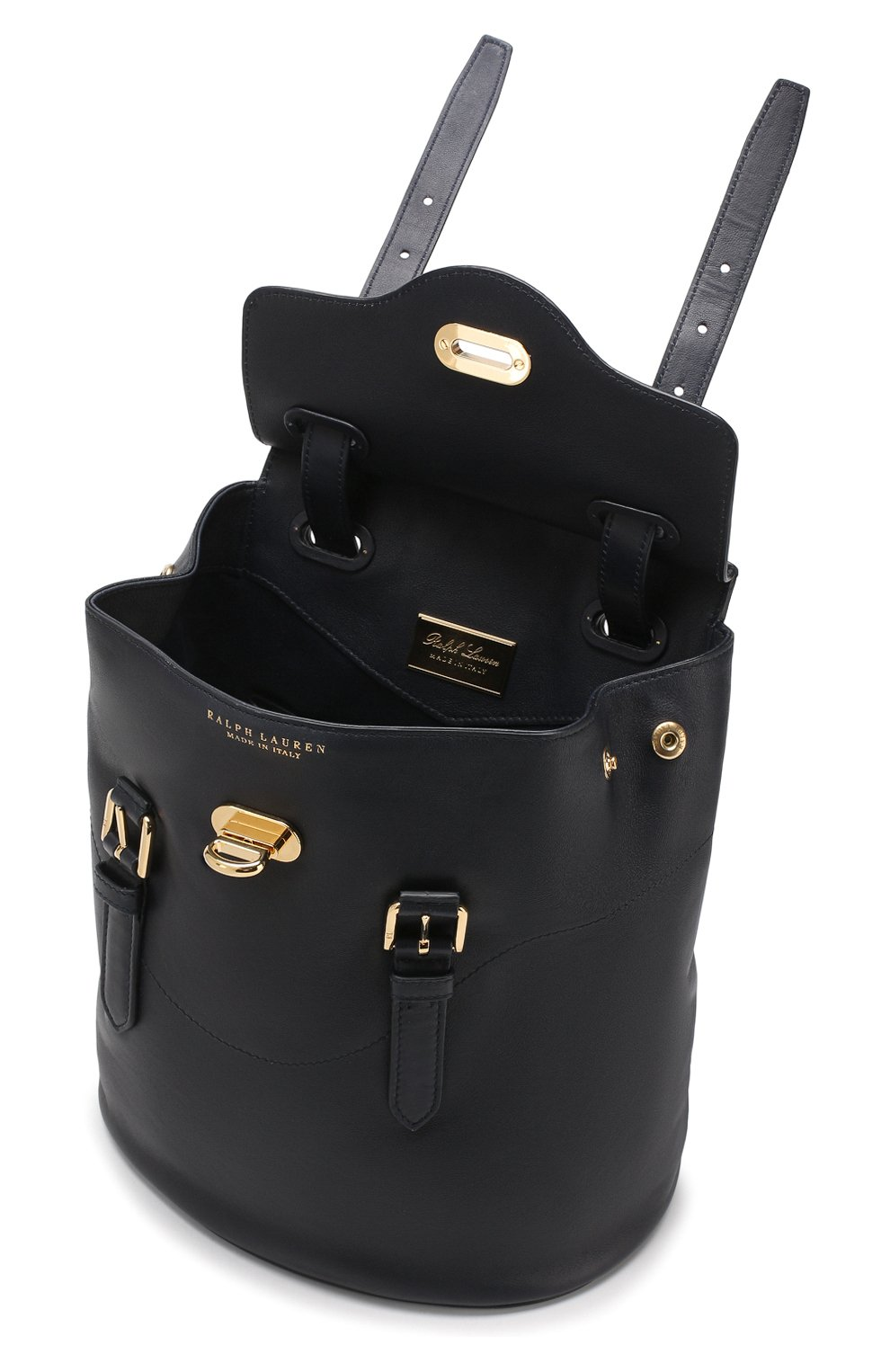 Рюкзак из кожи Ralph Lauren темно-синий | Фото №4